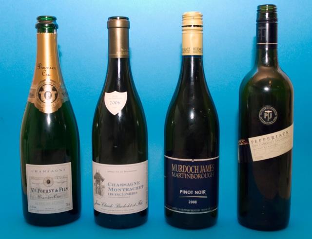 Wine flight with Paella
